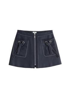 Kenzo Zipped Denim Skirt