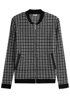 Kenzo Zipped Knit Jacket with Wool