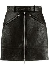 Kenzo zipped leather skirt