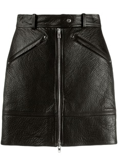 Kenzo zipped leather skirt
