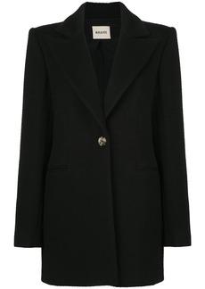 Khaite Allison wide-shoulders coat