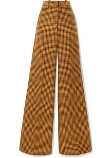 Khaite Bernadette Checked Wool Wide-leg Pants