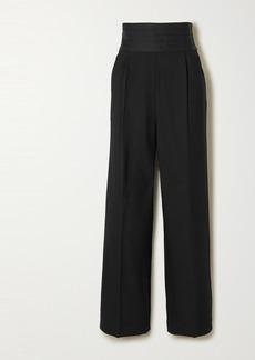 Khaite Blaine Stretch-crepe Wide-leg Pants
