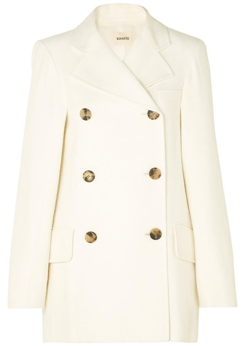 Khaite Clara Double-breasted Woven Coat