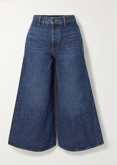 Khaite Darcy Cropped Mid-rise Wide-leg Jeans