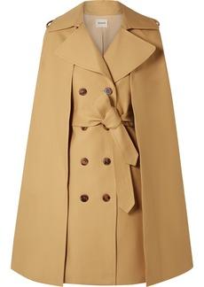 Khaite Donna Cape-effect Cotton-twill Trench Coat