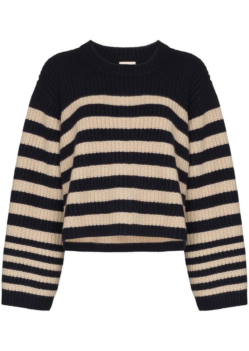 Khaite Dotty striped cashmere jumper