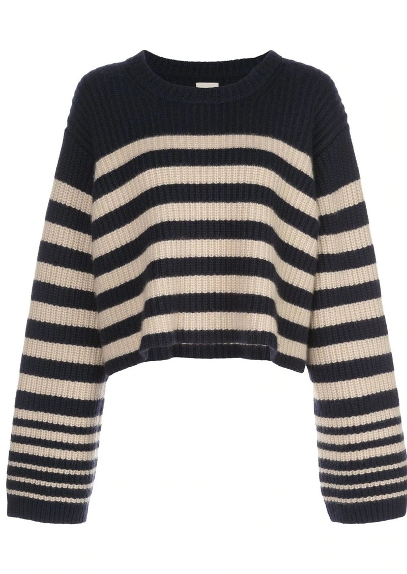 Khaite Dotty striped relaxed-fit jumper