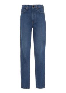 Khaite - Women's Vanessa Mid-Rise Skinny Jeans - Medium Wash/blue - Moda Operandi