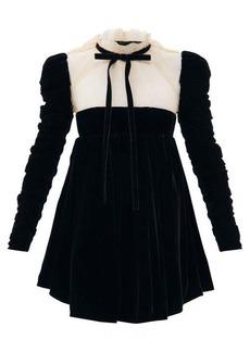 Khaite Ann velvet and tulle mini dress