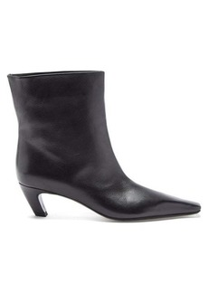 Khaite Arizona square-toe leather ankle boots