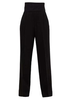 Khaite Blaine cummerbund-waist trousers