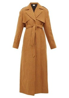 Khaite Blythe checked wool trench coat