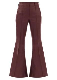 Khaite Charles kick-flared leather trousers