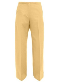 Khaite Charlize cotton wide leg trousers
