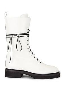 KHAITE Conley Lace Up Combat Boots