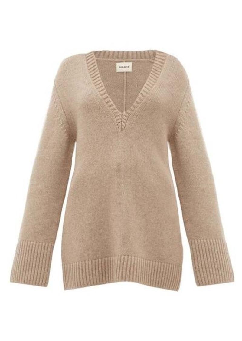 Khaite Dana braided-appliqué cashmere sweater