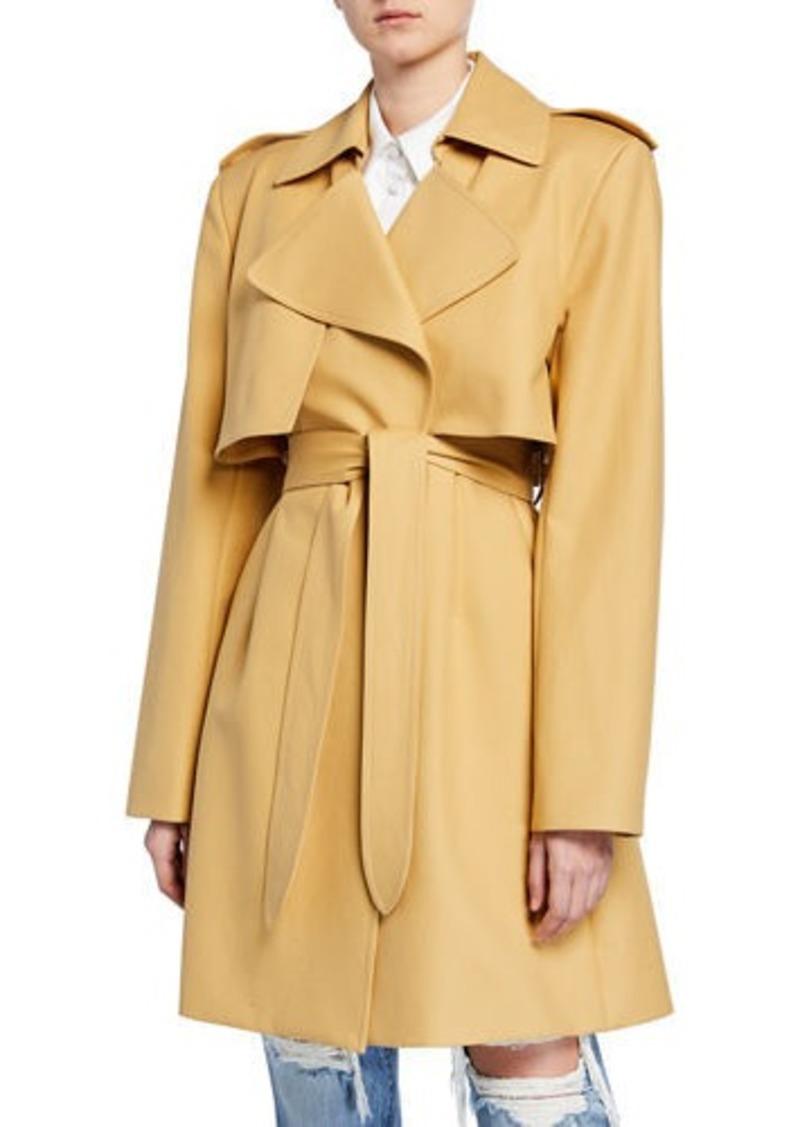 Khaite Dani Wrapped Cotton Trench Coat