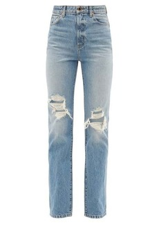 Khaite Danielle distressed straight-leg jeans