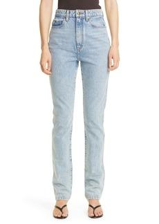 Khaite Daria High Waist Nonstretch Slim Straight Jeans (Santa Fe)