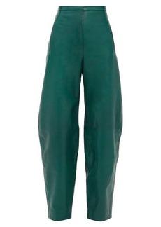 Khaite Emma high-rise leather trousers