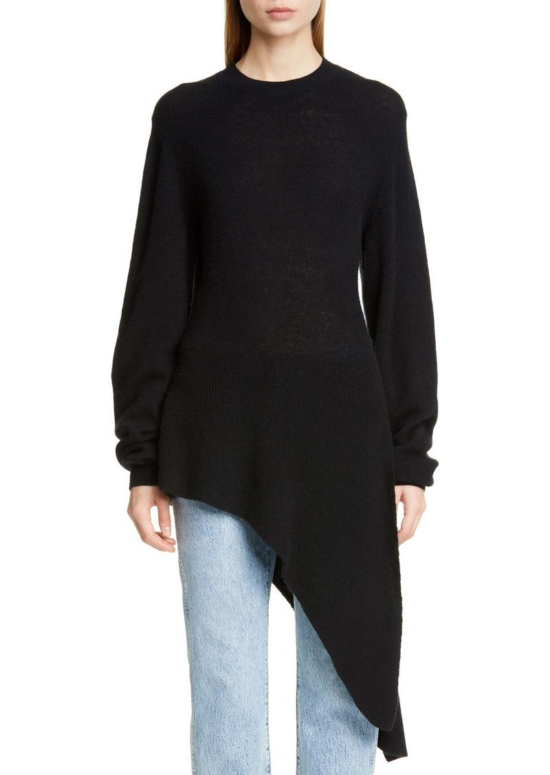 Khaite Esme Asymmetrical Stretch Cashmere Sweater
