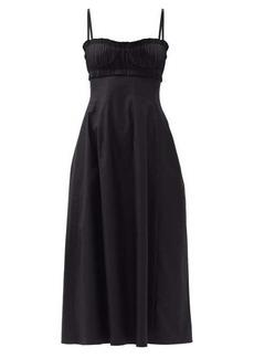 Khaite Felicia bustier cotton-twill dress