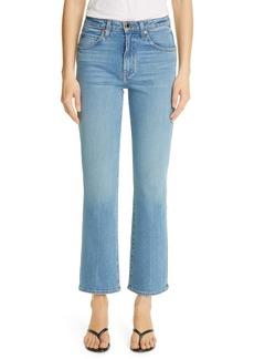 Khaite High Waist Flare Jeans (Vintage Blue)