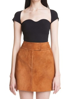 Khaite Ista Ribbed Bustier Sweater