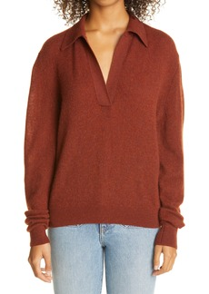 Khaite Jo Stretch Cashmere Polo Sweater