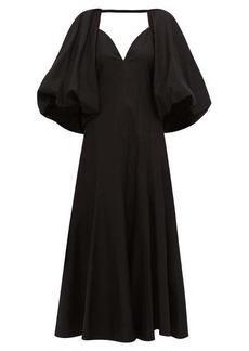 Khaite Joanne balloon-sleeve cotton maxi dress