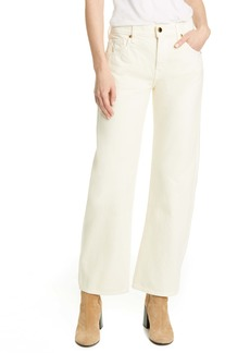 Khaite Kerrie Straight Leg Jeans (Ivory)