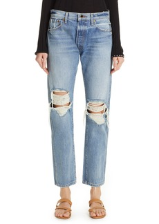 Khaite Kyle Ripped Relaxed Jeans (Portland)