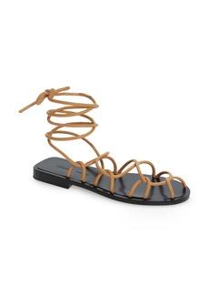 Khaite Lyon Ankle Tie Sandal (Women)