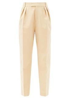 Khaite Magdeline high-rise cotton trousers