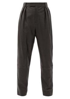 Khaite Magdeline high-rise leather trousers