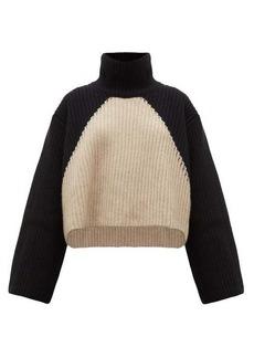 Khaite Marianna two-tone cashmere roll-neck sweater