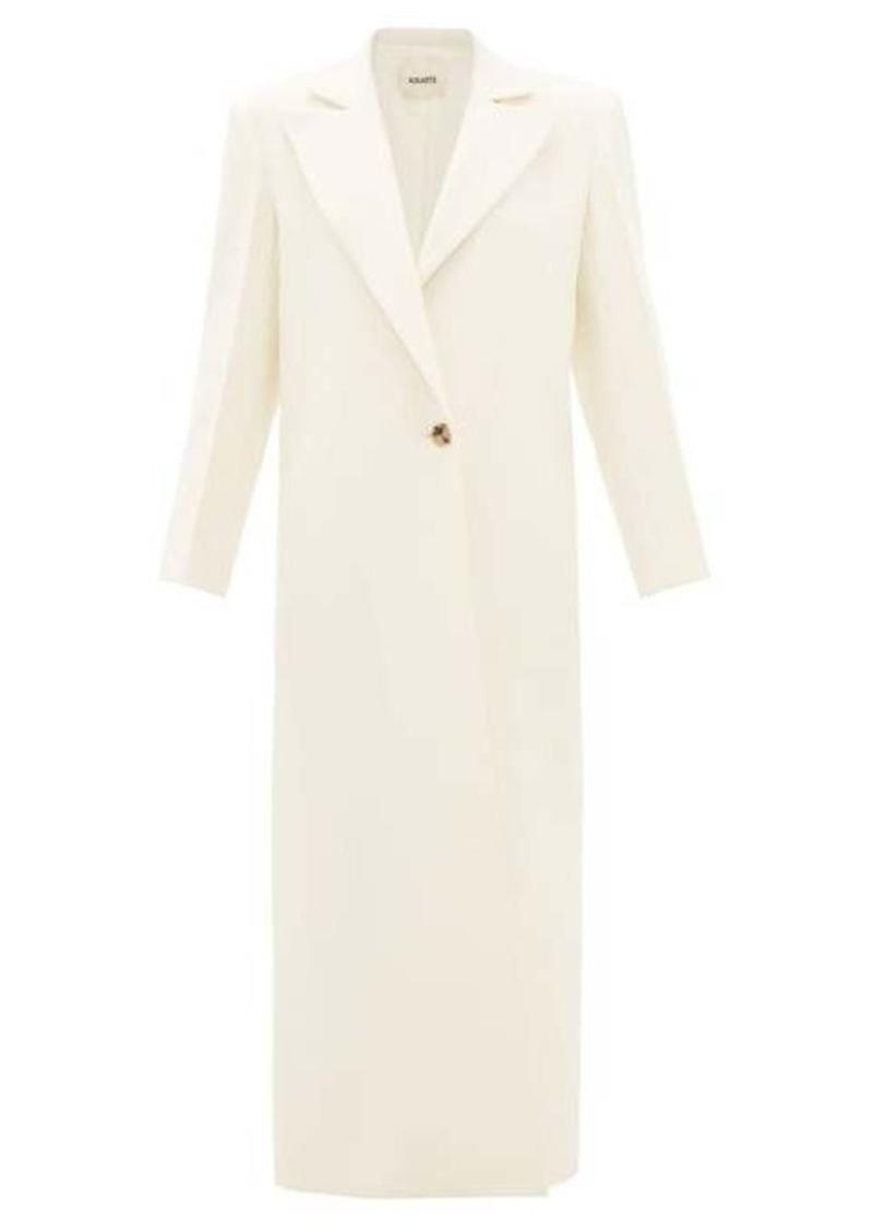 Khaite Rania single-breasted overcoat