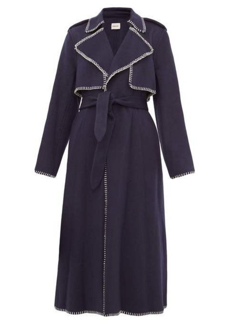 Khaite Roman whip-stitched felt trench coat