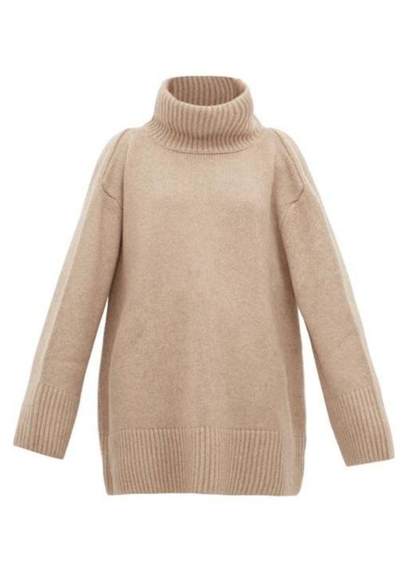 Khaite Tenille slit-shoulder cashmere sweater
