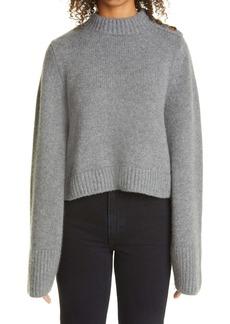 Khaite The Brie Button Shoulder Cashmere Sweater