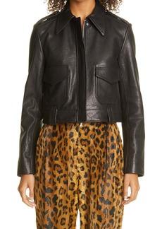 Khaite The Cordelia Lambskin Leather Jacket