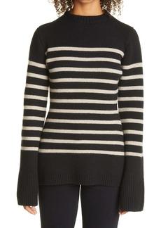 Khaite The Lou Breton Stripe Cashmere Sweater