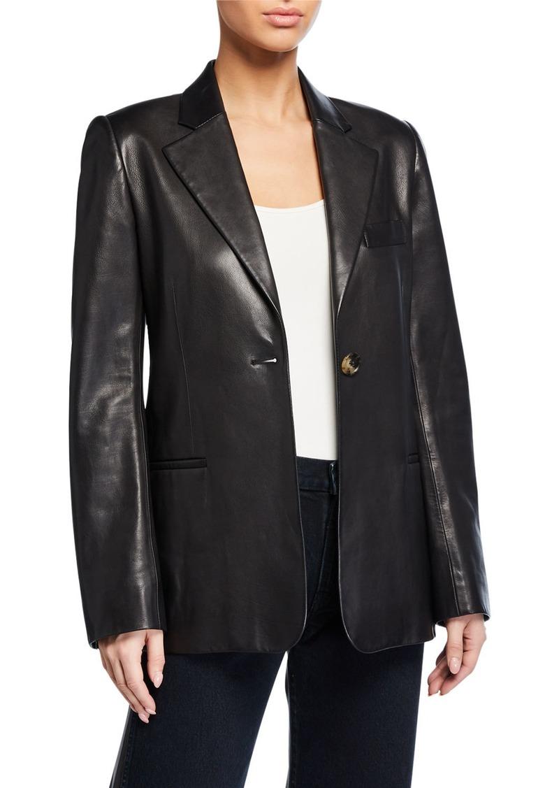 Khaite Vera Leather Blazer