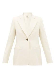 Khaite Vera single-breasted wool-blend blazer