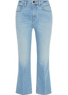 Khaite Woman Benny Faded High-rise Kick-flare Jeans Light Denim