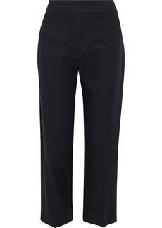 Khaite Woman Coco Cropped Cotton-twill Straight-leg Pants Black