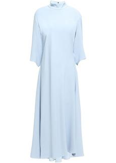 Khaite Woman Sabrina Open-back Stretch-crepe Midi Dress Sky Blue