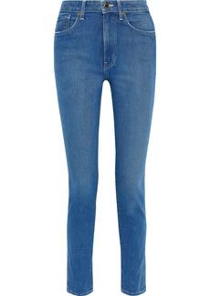 Khaite Woman Vanessa High-rise Slim-leg Jeans Mid Denim