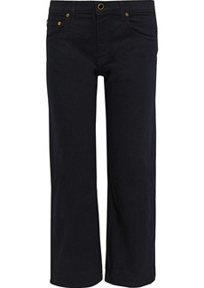 Khaite Woman Wendell Cropped High-rise Wide-leg Jeans Black